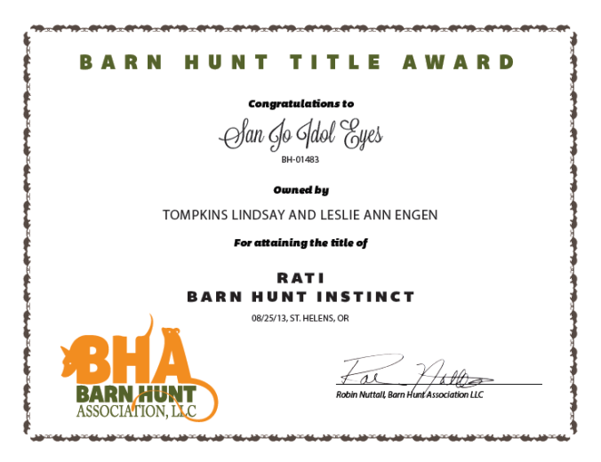 Ike rati certificate